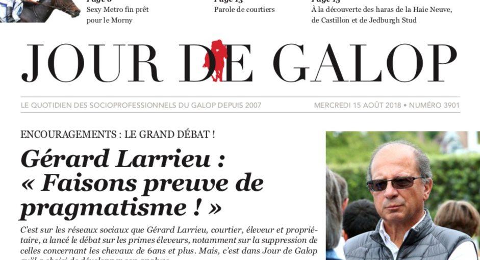 Gérard Larrieu a ouvert le débat: sa position sur les primes éleveurs dans le JDG