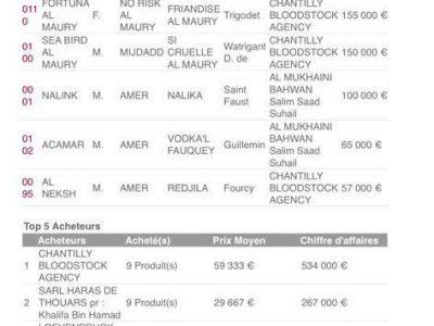 Gérard Larrieu top acheteurs des ventes Arqana