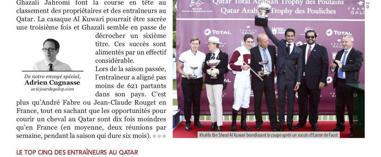 Promising duo Khalifa bin Sheail Al Kuwari and Gerard Larrieu hit the headlines of the JDG