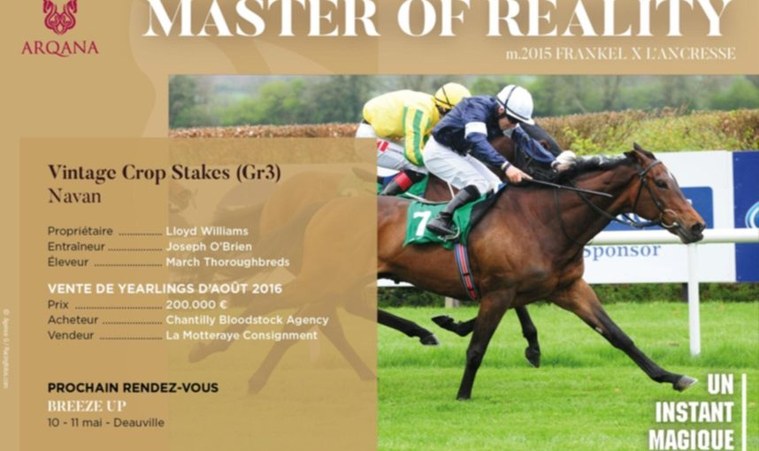 MASTER OF REALITY won the Vintage Crop Stakes (Gr3)