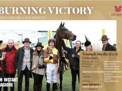 Burning Victory bought by Gérard Larrieu
